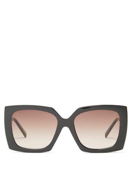 Le Specs - Discomania Oversized Square Acetate Sunglasses - Womens - Black