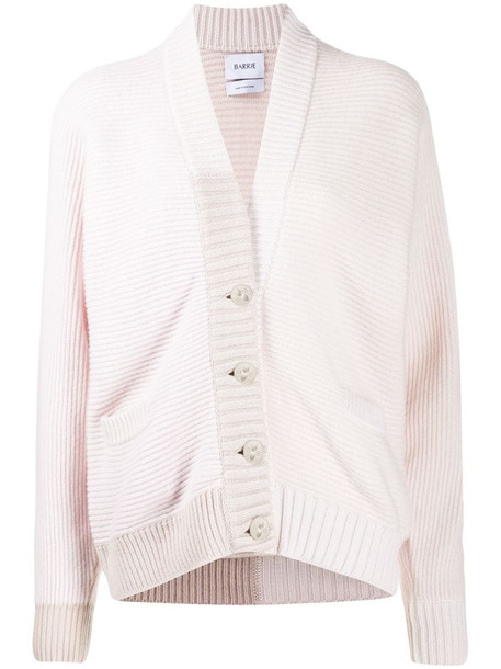 Barrie slouchy cashmere cardigan in pink