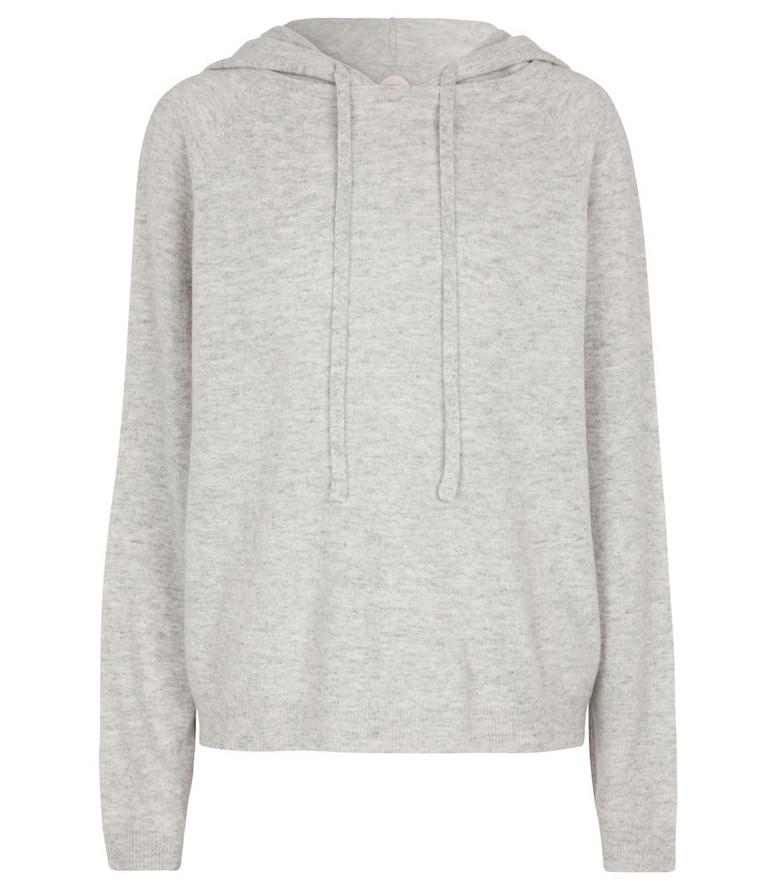 Jardin des Orangers Wool and cashmere knit hoodie in grey