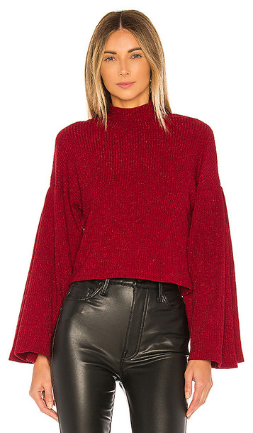 Lovers + Friends Lovers + Friends Mabel Sweater in Red