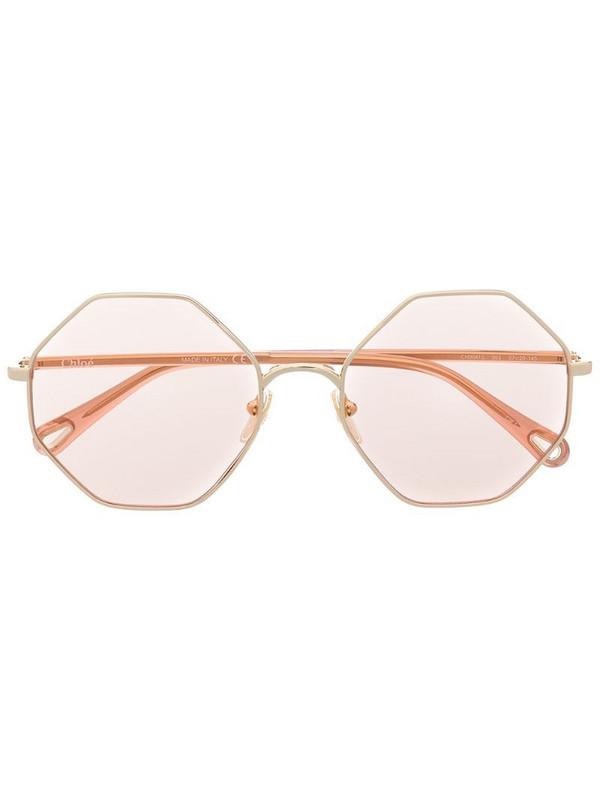 Chloé Eyewear Demi round tinted sunglasses in gold