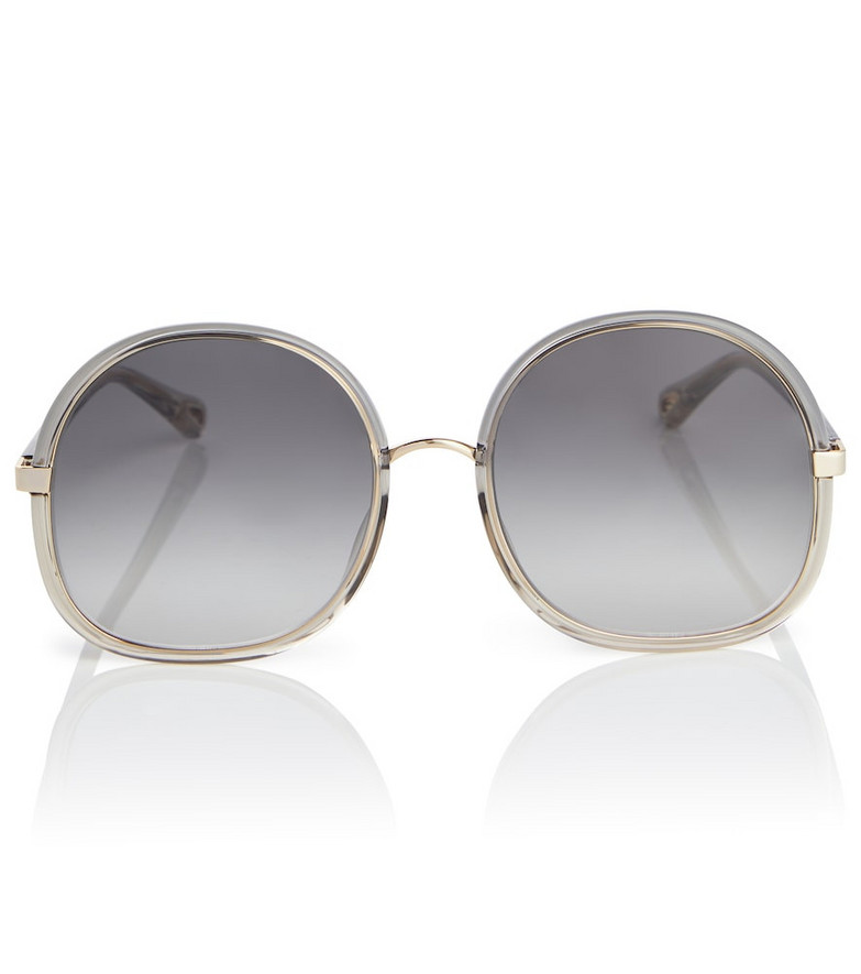 Chloé Franky round acetate sunglasses in grey
