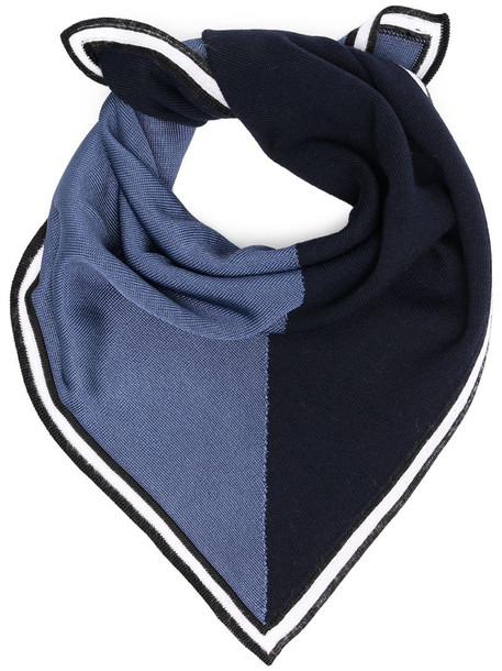 Missoni two tone scarf in blue