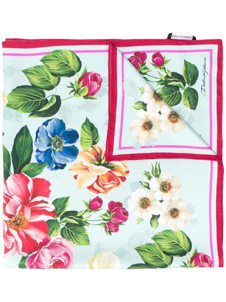 Dolce & Gabbana floral print scarf in blue