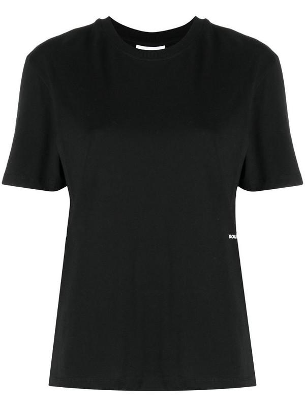 Soulland Cea plain T-shirt in black