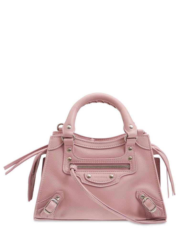 BALENCIAGA Mini Neo Classic City Leather Bag in pink