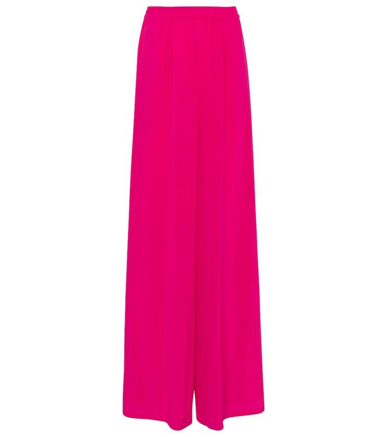 Max Mara Boheme wide-leg pants in pink