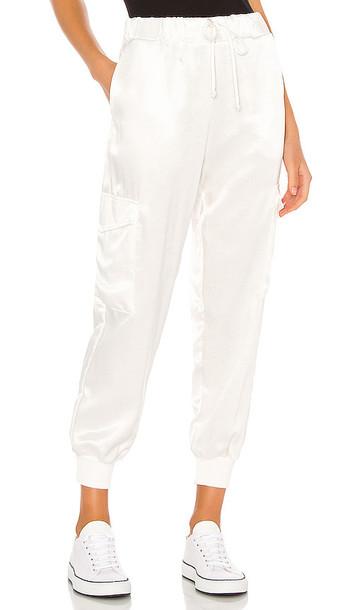LNA Cargo Pant in White in ivory