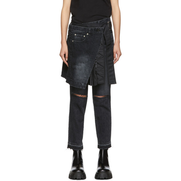 Sacai Black Skirt Jeans