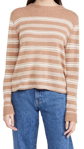 Reformation Cashmere Boyfriend Sweater in camel
