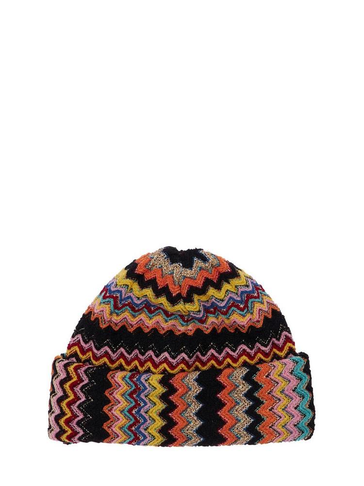 MISSONI Knit Wool Blend Zig Zag Beanie