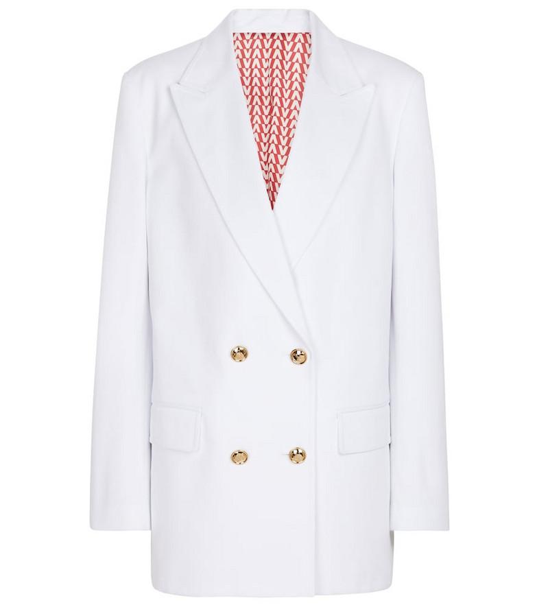 Valentino Cotton twill blazer in white