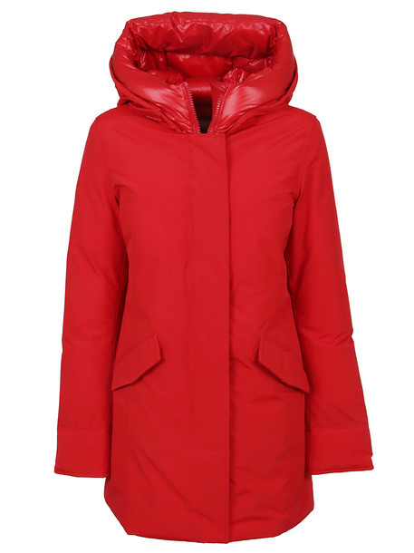 Woolrich Red Cotton Padded Coat