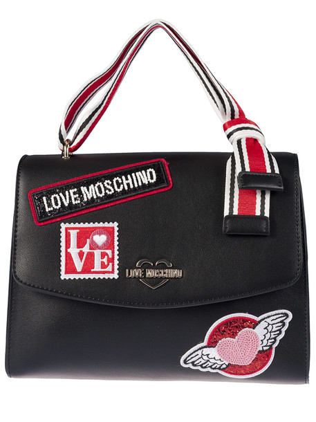 Love Moschino Logo Shoulder Bag in nero