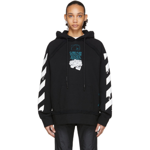 Off-White Black Dripping Arrows Incompiuto Hoodie