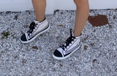 shoes,corinna kopf,high top sneakers,high tops,sneakers,black and white,black and white shoes,converse