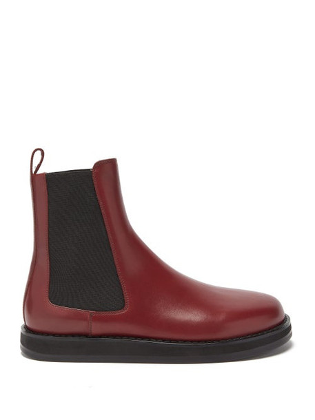 The Row - Gaia Leather Chelsea Boots - Womens - Burgundy