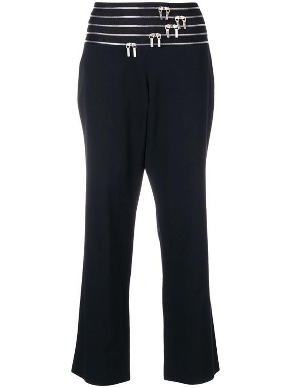 Jil Sander Pre-Owned zip-embellished cropped trousers in black
