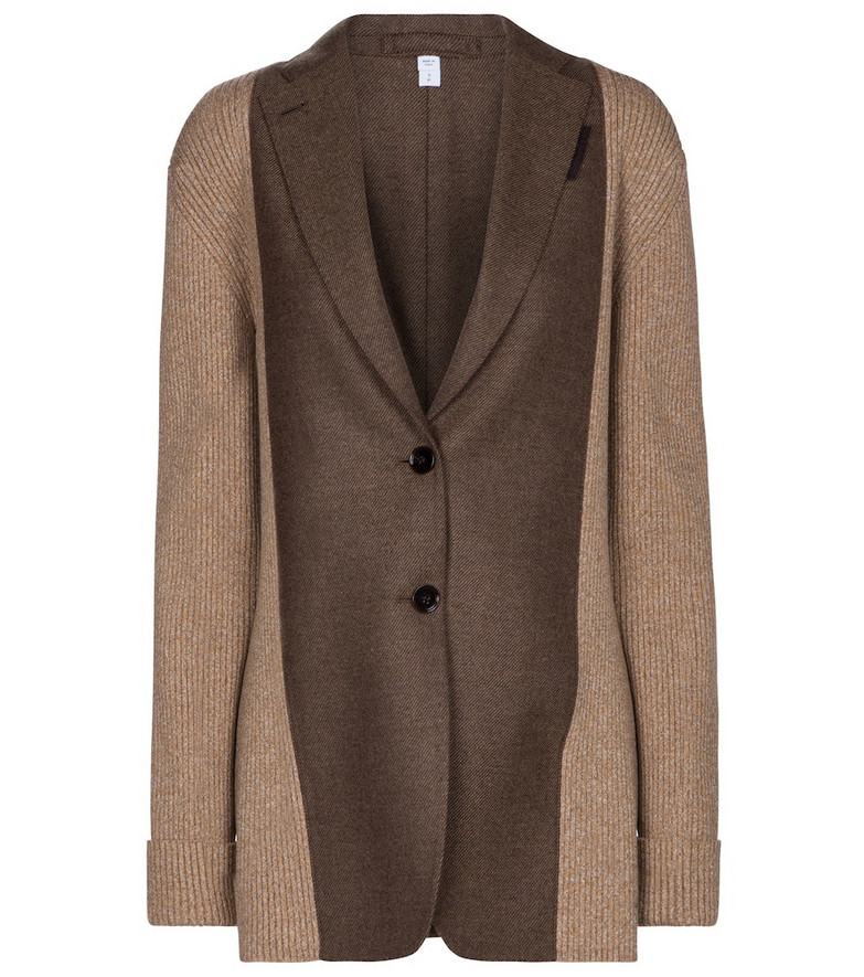 Burberry Wool and cashmere blazer in brown