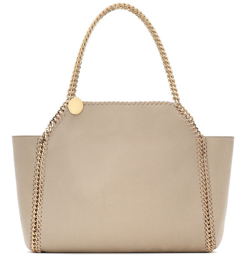 Stella McCartney Falabella faux-leather tote in neutrals