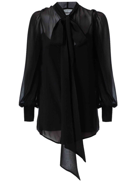 Givenchy Tie Detail Blouse in black