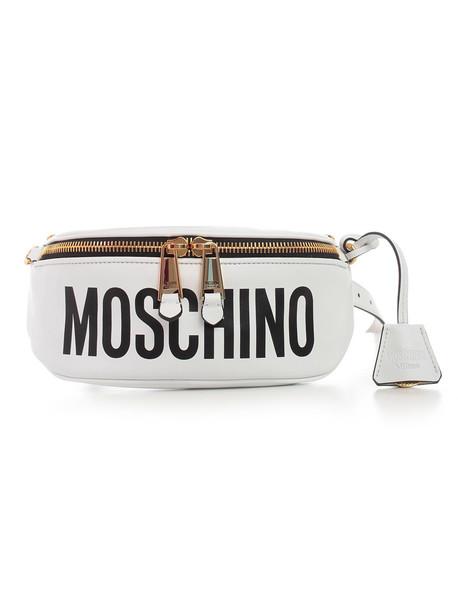 Moschino Belt Bag in white / print