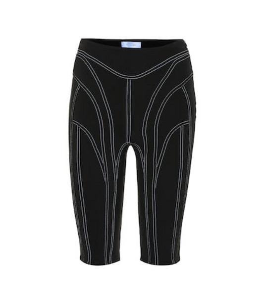 Mugler High-rise technical shorts in black