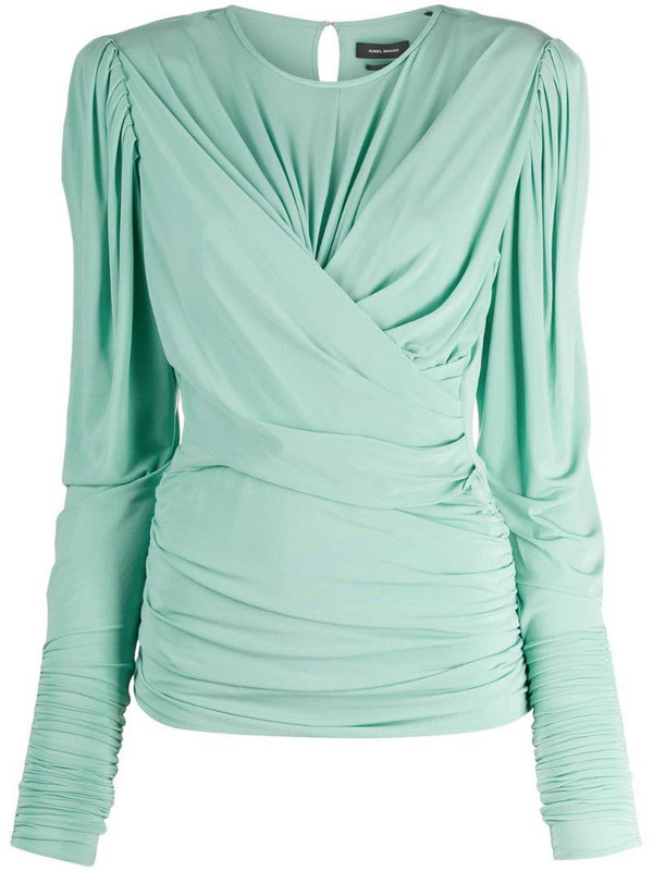 Isabel Marant wraparound style top in green