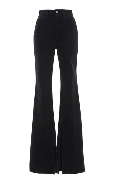 Attico High Rise Flared Jeans in black