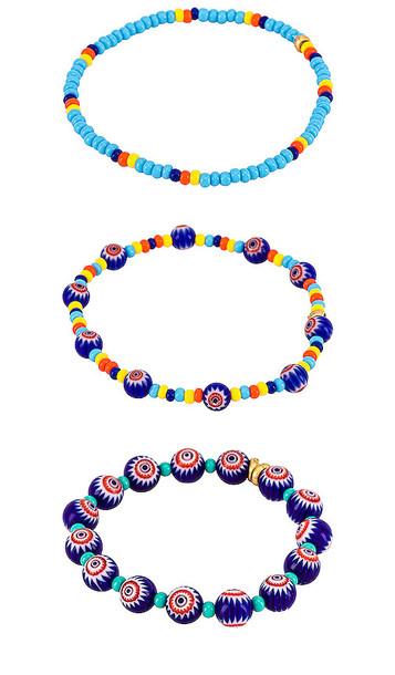 Elizabeth Cole Waylon Bracelets in Blue in multi