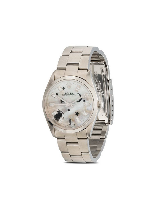 Jacquie Aiche customised Rolex Oyster Perpetual watch in silver