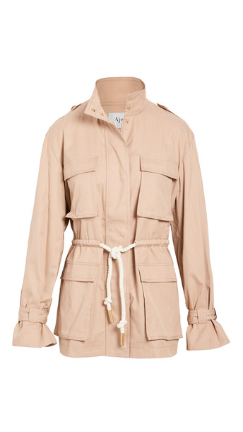 Aje Liberation Utility Jacket in camel