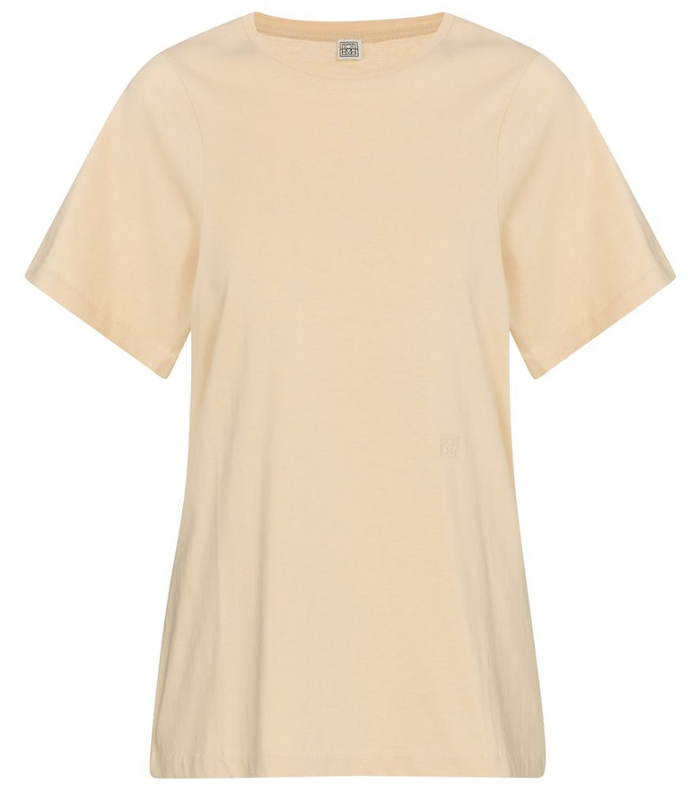 Toteme Cotton jersey T-shirt in beige