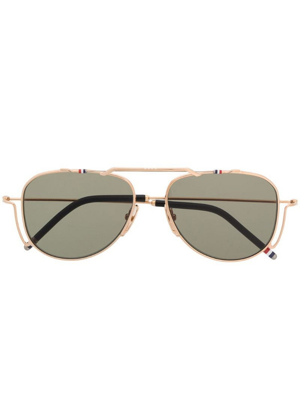 Thom Browne Eyewear TBS917 aviator sunglasses in gold