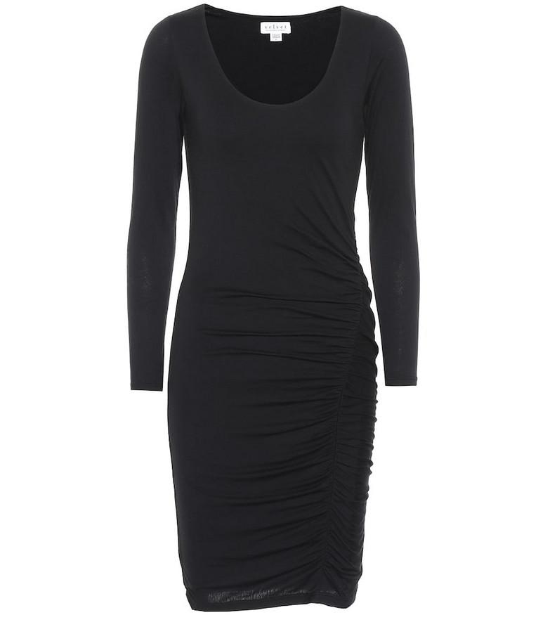 Velvet Jessica stretch-cotton dress in black