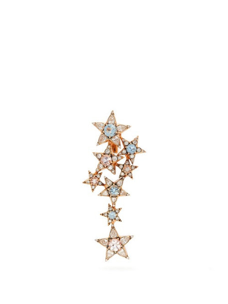 Selim Mouzannar - Istanbul Diamond & Aquamarine Single Earring - Womens - Gold