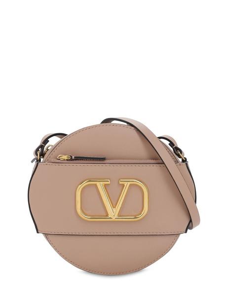 VALENTINO GARAVANI Vlogo Leather Circle Bag in rose
