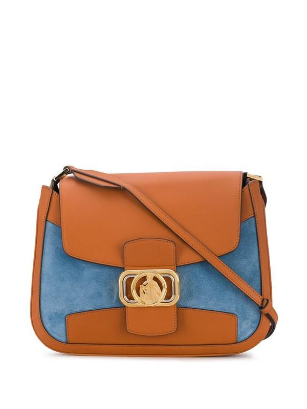 LANVIN Swan bicolour bag in blue