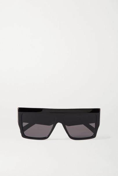 Celine - Oversized D-frame Acetate Sunglasses - Black