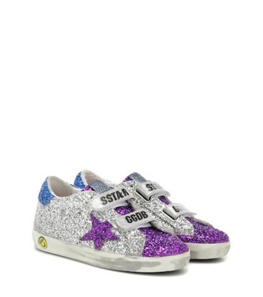 Golden Goose Deluxe Brand Kids Old School glitter sneakers in silver