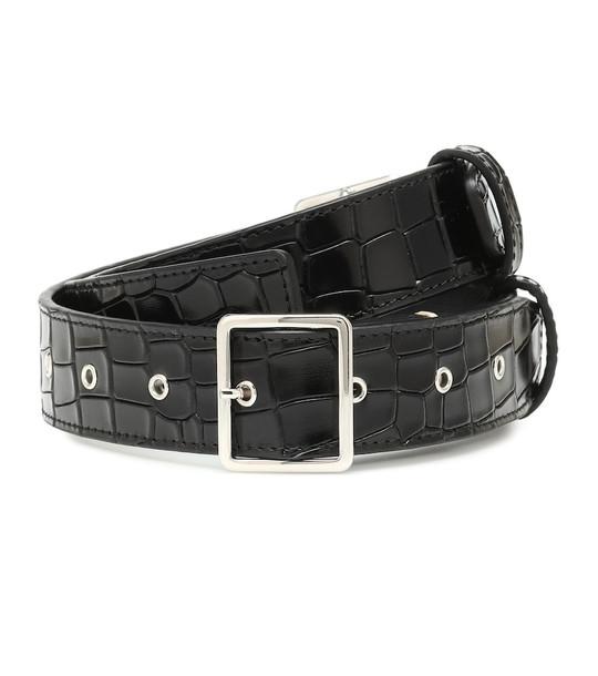 Altuzarra Croc-effect leather belt in black