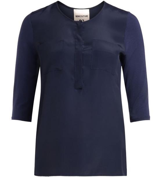 Semicouture Golden Blue T-shirt
