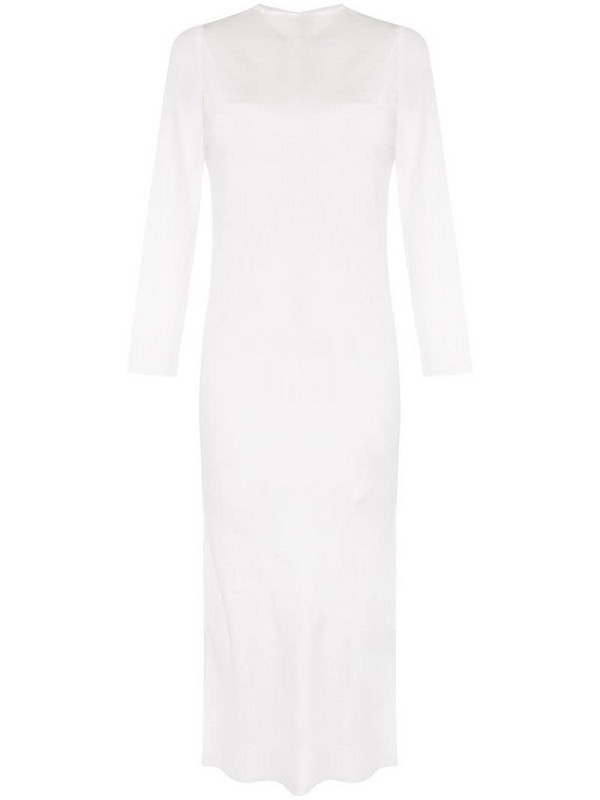 Sir. Indre sheer layered dress in white