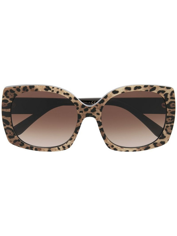Dolce & Gabbana Eyewear square-frame sunglasses in neutrals