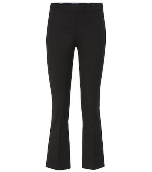 S Max Mara Umanita cropped stretch-twill pants in black