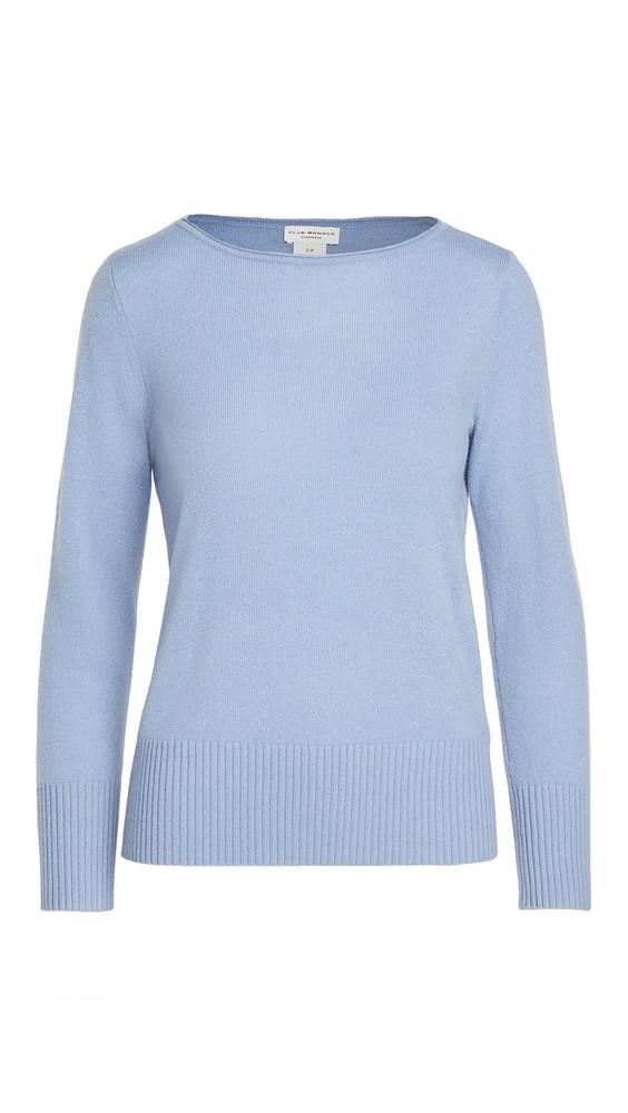 Club Monaco Essential Open Cashmere Sweater in blue