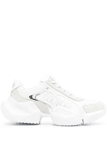 Versace Jeans Couture logo chunky-sole sneakers in white