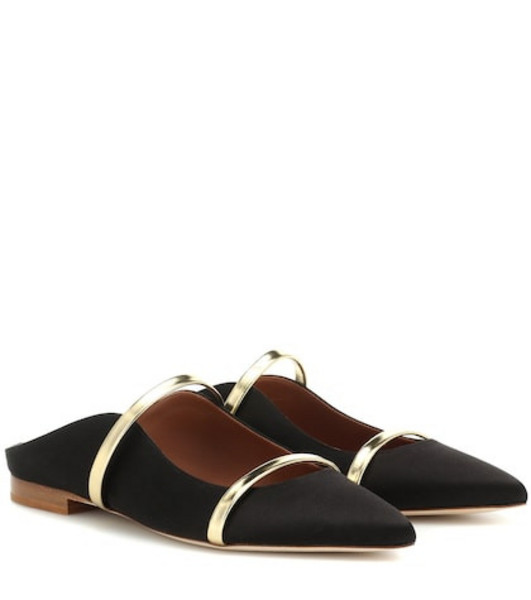 Malone Souliers Maureen satin slippers in black