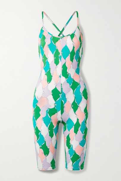 Emilio Pucci - + Net Sustain Printed Recycled Stretch Playsuit - Green