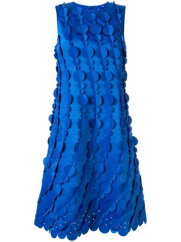 Paskal circle embellished midi dress in blue